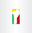 benin map logo icon design vector image