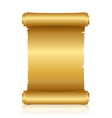 gold shiny scroll vector image