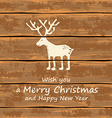 Christmas funny deer vector image