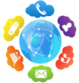 cloud computing and apps vector image