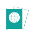 dotted shape passport document id to international vector image