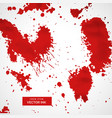 red blood splatter stain collection vector image