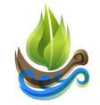 ecological icon in thie form of the ship vector image vector image