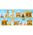 wild west game background daily life cowboys vector image