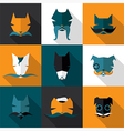 Bright dogs vector image