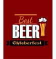German best beer banner vector image vector image