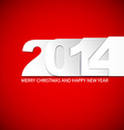 Original New Year 2014 card vector image vector image
