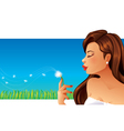 Woman and Dandelion vector image