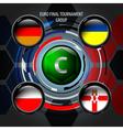 European Flag Buttons C vector image