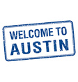 welcome to Austin blue grunge square stamp vector image