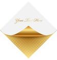 golden note paper vector image vector image
