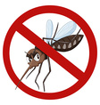 No mosquito sign on white vector image vector image