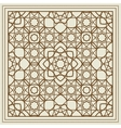 Beige scarf design with geometric pattern vector image