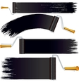 Black Roller Brush on White Background vector image