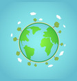 eco earth global concept world vector image