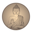 Gautama buddha with closed eyes in frame vector image