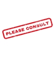 Please Consult Rubber Stamp vector image