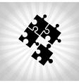 puzzle pieces design vector image