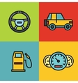 Road tourist color icons vector image