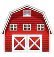 A red barn house vector image