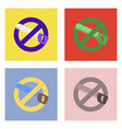 flat icon design collection no saws vector image vector image