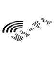 Isometric WiFi symbol vector image vector image
