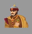 Cartoon king 2 vector image