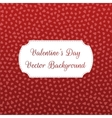 Valentines Day Hearts Pattern on red Background vector image