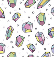 Colorful crystal art seamless pattern background vector image