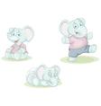 cartoon little elephant vector image
