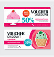 discount voucher set of ice cream template design vector image