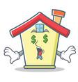 money eye house character cartoon style vector image