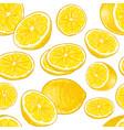 seamless lemons pattern vector image