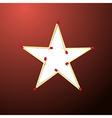 Star Made from Matches on Red Background vector image
