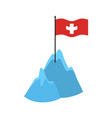 swiss alps mountains icon high cliffs and snow vector image
