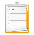 ToDo List vector image