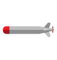 Torpedo icon flat style vector image