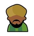 Avatar face indian man bearded mustache turban vector image