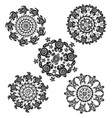 set with round pattern from decorated turtles vector image vector image