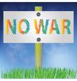 no war sign vector image vector image