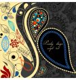 paisley floral background vector image