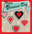 retro Valentine's heart ornament vector image