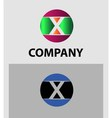 Set of two isolated stylish X symbol graphic vector image
