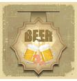 vintage postcard cover menu - beer vector image vector image