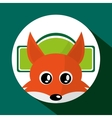 Animal design Fox icon Isolated vector image