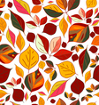 Abstract autumn leaves vector image