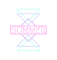 Abstract Geometric Summer Design vector image