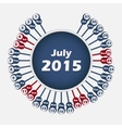 calendar 2015 July template vector image