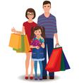 Family shopping vector image