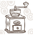 Old coffee mill vector image